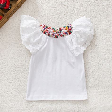 Blouse Age613 infant floral collar t shirts baby toddler sleeve tops blouse shirts 0 2y a28