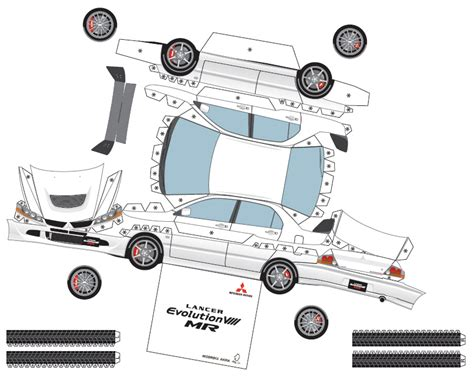 paper car template mitsubishi paper cars cartype