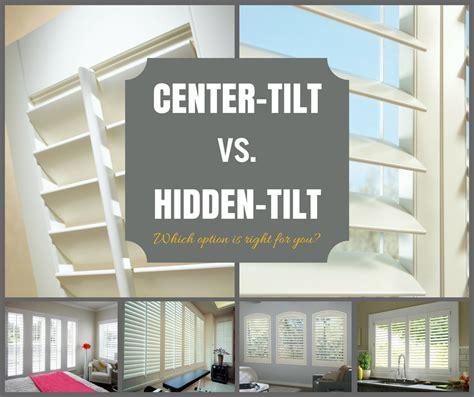 Vinyl Window Blinds Shutters Center Tilt Rod Vs Hidden Tilt Rod Which