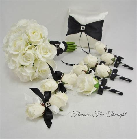 Real Wedding Flowers by Knumathise Real Black And White Roses Images