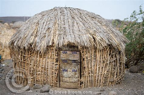 Grass Hut Grass Hut Turkana Tribe Northern Kenya