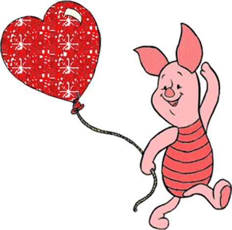 imagenes de winnie pooh con un corazon para colorear puerquito caminando con un globo en forma de coraz 243 n