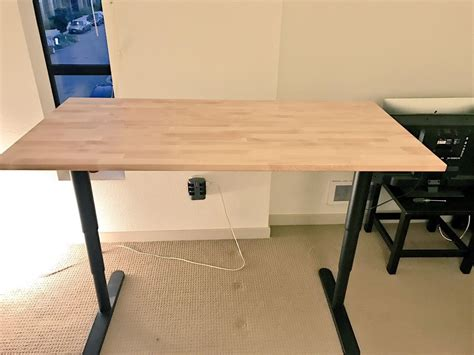 Ikea Table Top Desk by For How To Affix An Ikea Gerton Table Top To