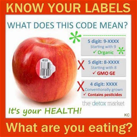 fruit 4 digit code what do the labels on fruit