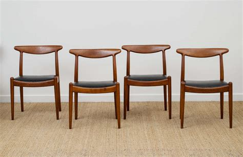 Dining Room Leather Chairs hans wegner dining chair model w2 at 1stdibs