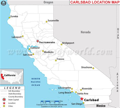 map of bakersfield where is carlsbad california