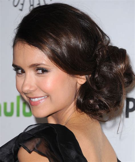 updo hairstyles nina nina dobrev updo long curly formal wedding updo hairstyle