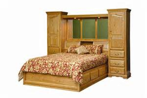 pier bedroom furniture amish american heritage pier wall platform bed