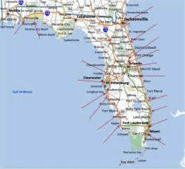 Florida Map East Coast by Map Of Florida Running Stores