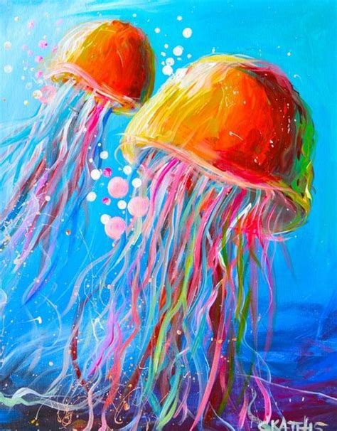 can you paint acrylic on canvas best 25 jellyfish painting ideas on jellyfish