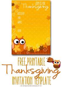 Thanksgiving Templates by Free Printable Invitations Thanksgiving Invite Template