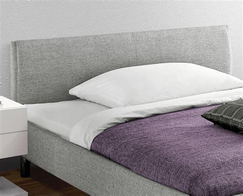 bett kopfteil stoff preiswertes graues polsterbett in 140x200 cm gravelines