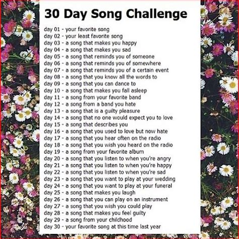 8tracks radio 30 day song challenge 25 songs free 8tracks radio 30 day song challenge 18 songs free