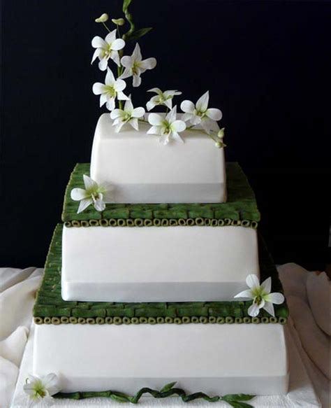 Square Wedding Cake Designs by Asian Wedding Cakes