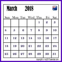 Calendar 2018 April Australia March 2018 Australia Calendar Printable Monthly Calendars