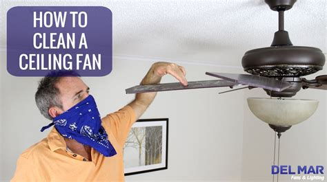 how to clean a ceiling fan youtube
