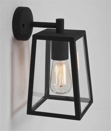 black exterior wall lights exterior clear glass wall lantern h 280mm
