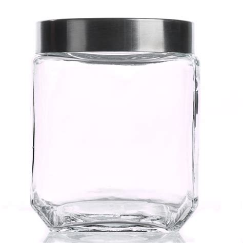 square kitchen canisters square glass canister kitchen and bath home decor