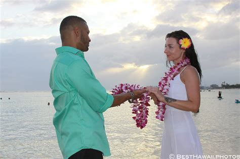 Hawaii Beach Wedding: Sunset at Magic Island in Honolulu