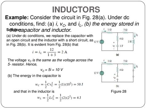 inductor energy storage equation circuit theory 1 finals