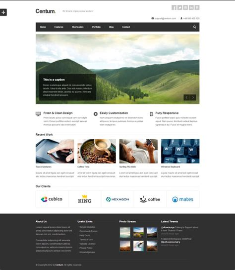 best website templates for business 20 best business website templates of 2012