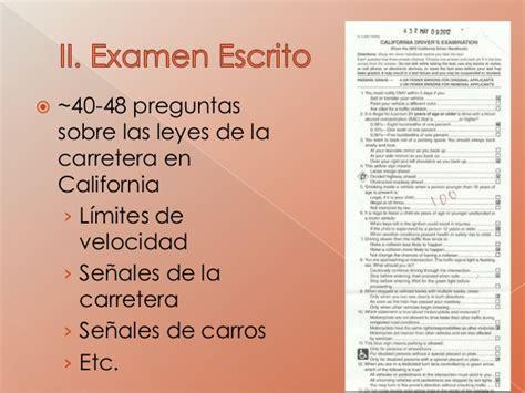 Examen Escrito Del Dmv Curr 237 Culo Para Licencias Ab 60