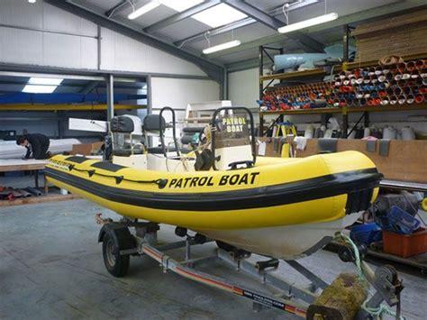 yellow zodiac boat valiant dr490 retube in yellow hypalon rib boats