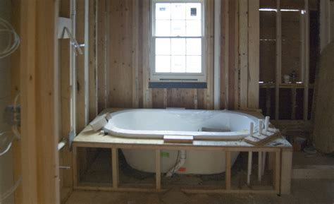 framing for a bathtub bathroom biddulph road addition
