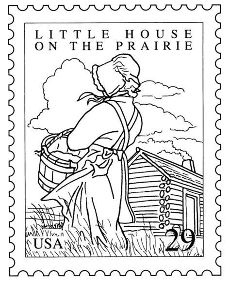 Printable Little House On The Prairie | little house on the prairie coloring page to stitchery