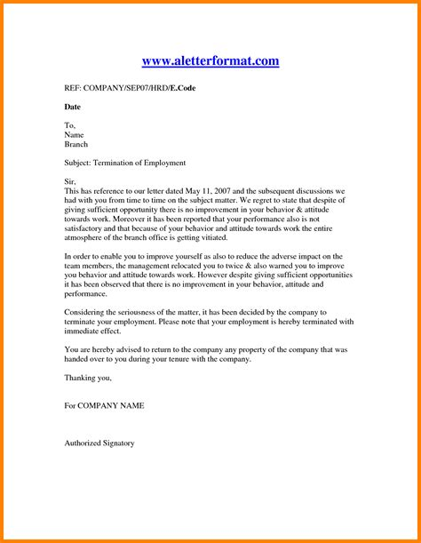letter termination employee ledger review