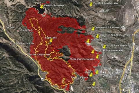 map of colorado wildfire