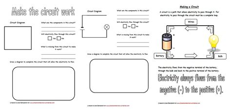 School Home Worksheets by Electricity Circuits Worksheets Iman S Home School