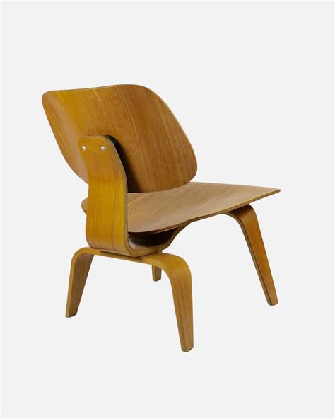 vintage second chairs eames design chair herman miller lcw plywood walnut