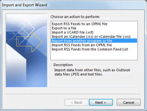 Office 365 Outlook Export Email Import Email Contacts And Calendar From An Outlook Pst
