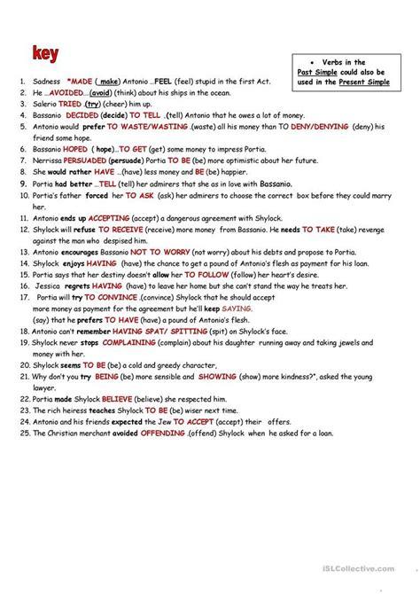 verb pattern worksheet verb patterns worksheet free esl printable worksheets