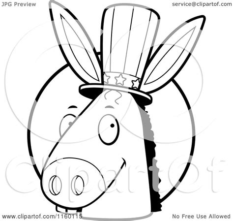 donkey head coloring page democrat donkey outline www imgkid com the image kid