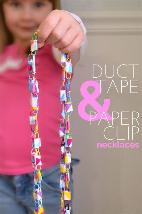 how to make duct jewelry duct and paper clip necklaces mad in crafts
