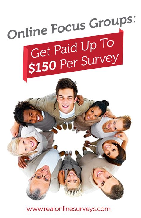 Get Paid Per Survey - online focus groups get paid up to 150 per survey