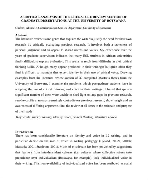writing a literature review for a dissertation exle writing an argument essay