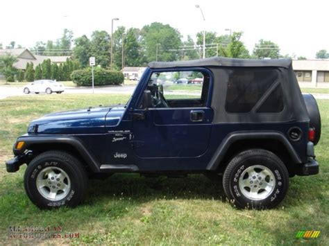 patriot jeep blue 2001 jeep wrangler sport 4x4 in patriot blue pearl