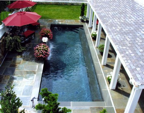 pool designs for small spaces small space pool and pergola traditional pool new