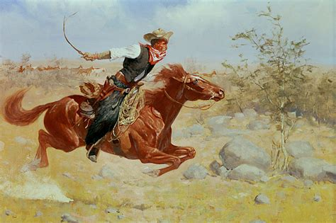 Hunting Duvet Cover Galloping Horseman Painting By Frederic Remington
