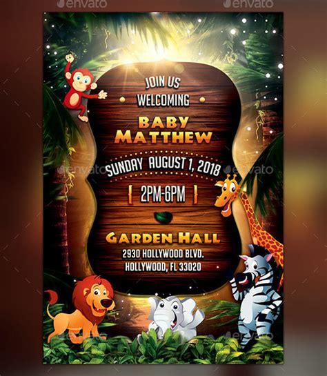 Safari Themed Baby Shower Invitations by 21 Baby Shower Invitation Psd Vector Eps Jpg