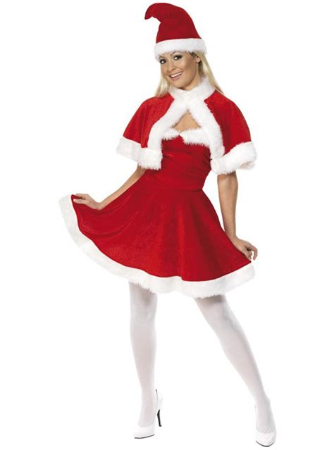 miss santa deluxe costume with cape buy online at funidelia