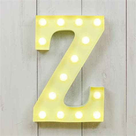 vegas metal led circus letter light z by all things