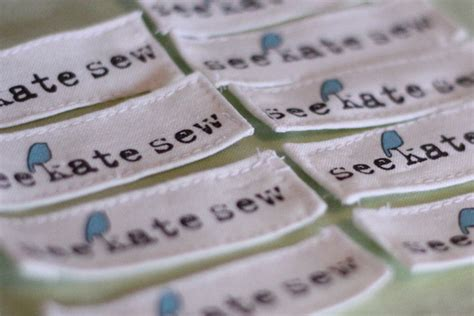 300 clothing labels for $20   see kate sew