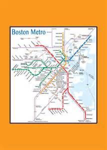 Boston Tube Map by Items Similar To Boston Metro Tube Subway Map 11x17 On Etsy