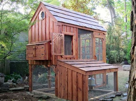 Handcrafted Coops - handcrafted coop with talented carpentry details small