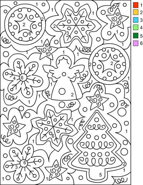 free holiday color by number coloring pages nicole s free coloring pages christmas color by number