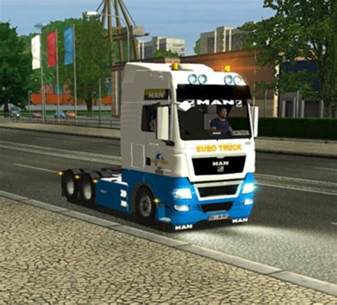 download game euro truck mod man tgx 33 680 new simulator games mods download